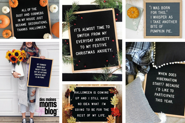 favorite letter boards seasonal