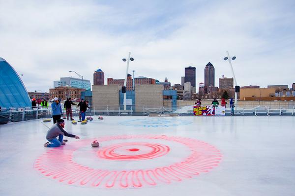 Winter Games Des Moines curling