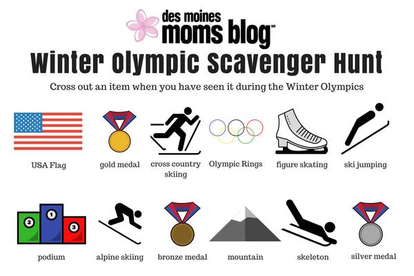 winter olympic scavenger hunt
