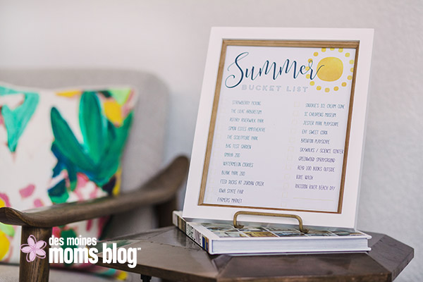 Des Moines Family Fun Summer Bucket List + printable for summer activities