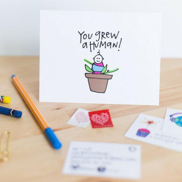 XO-LP baby greeting card