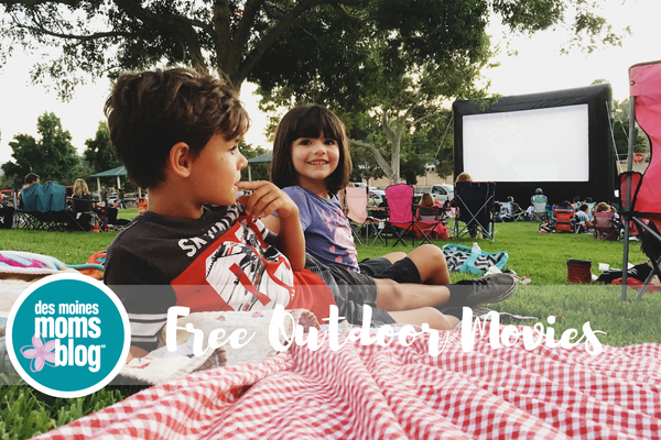 Des Moines outdoor movies in the park Summer 2018