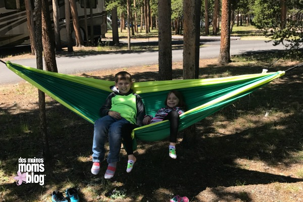 camping with kids hammocks