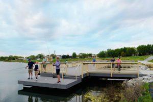 fishing at Terra Park Iowa