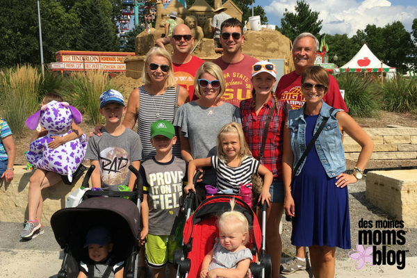 extended family photo at Iowa State Fair grounds