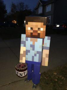 DIY halloween Costumes Minecraft Steve