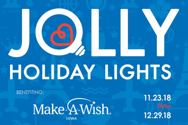 Jolly Holiday Lights Make-A-Wish Iowa