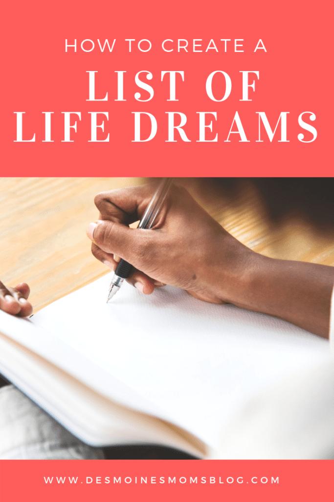 dream list resolutions