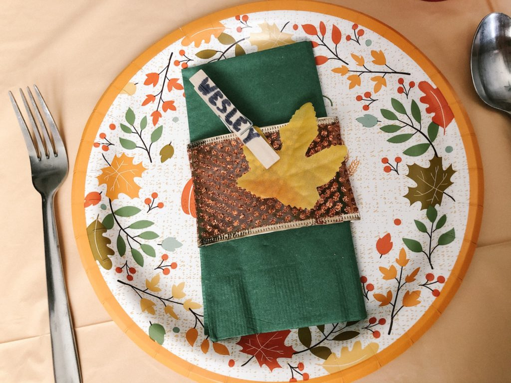 holiday place setting DIY