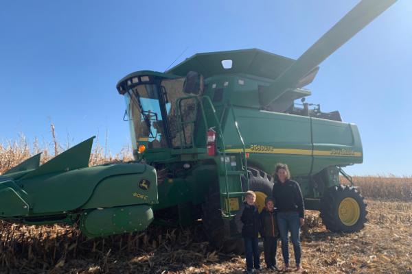 Iowa farm combine