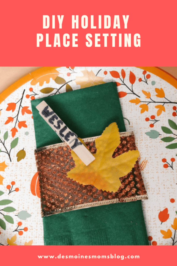 DIY holiday place setting