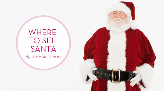Where to see santa in des moines