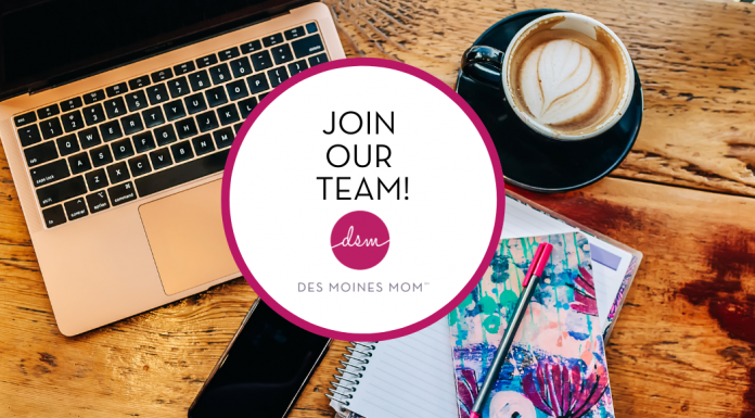 join Des Moines Mom writing team